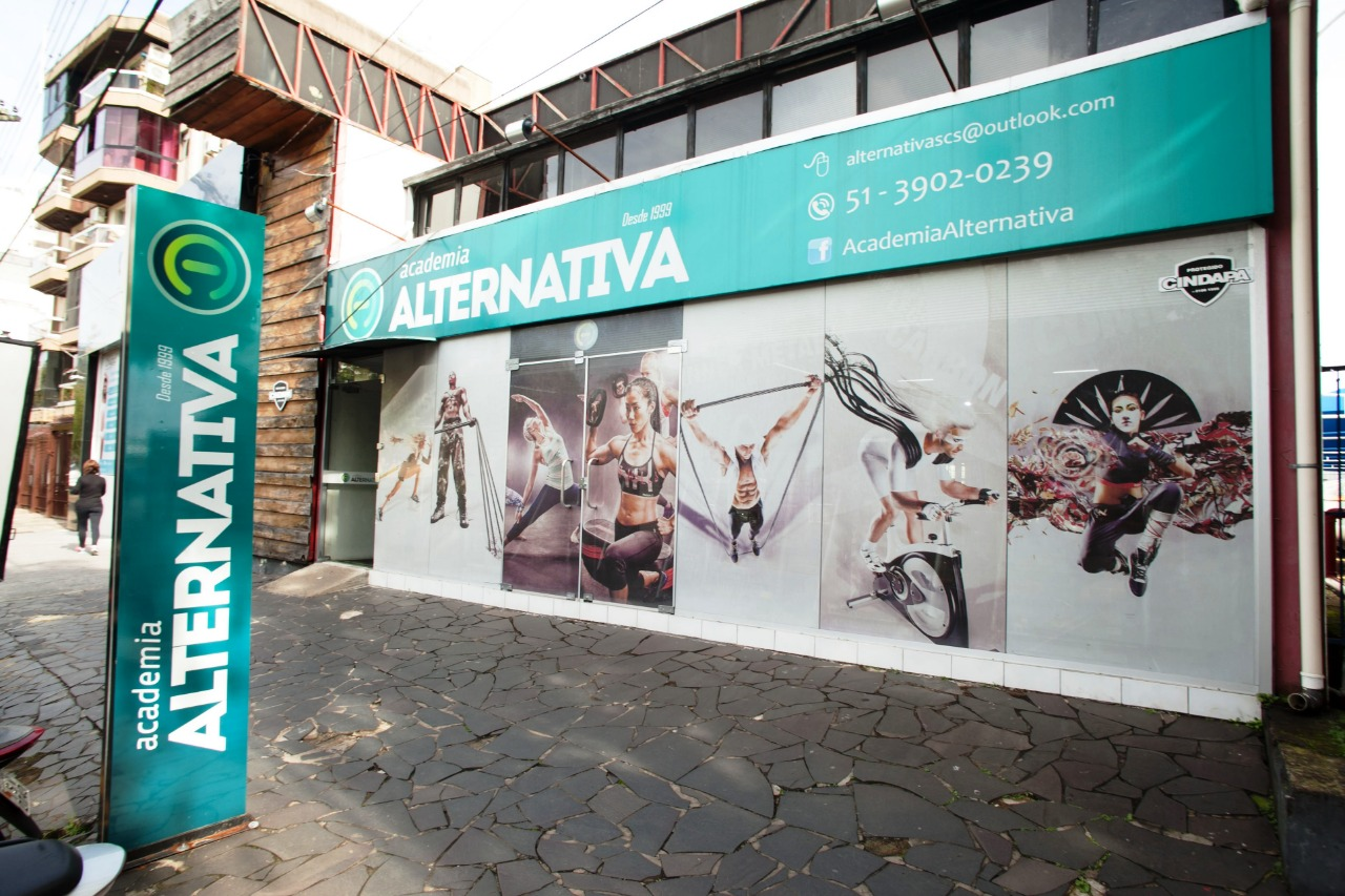 A Academia Alternativa fica localizada na Avenida do Imigrante, 450